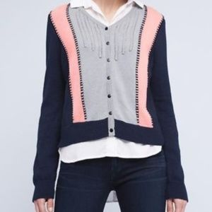 Anthropologie Lili's Closet colorblock cardigan